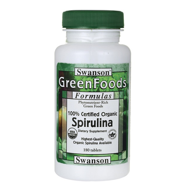 Swanson 100% Certified Organic Spirulina