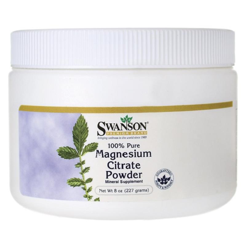 Swanson 100% Pure Magnesium Citrate Powder
