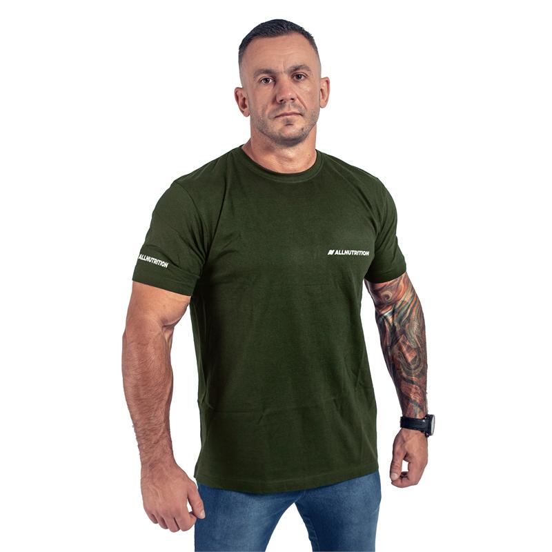 ALLNUTRITION T-Shirt Męski Slim FIT Zielony