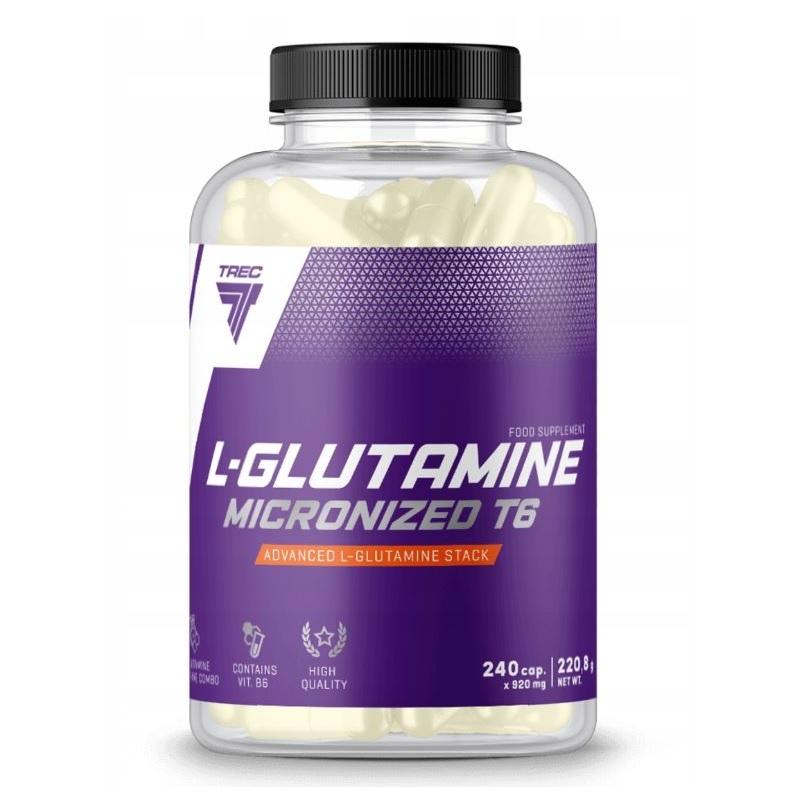 Trec L-glutamine Micronized T6 caps