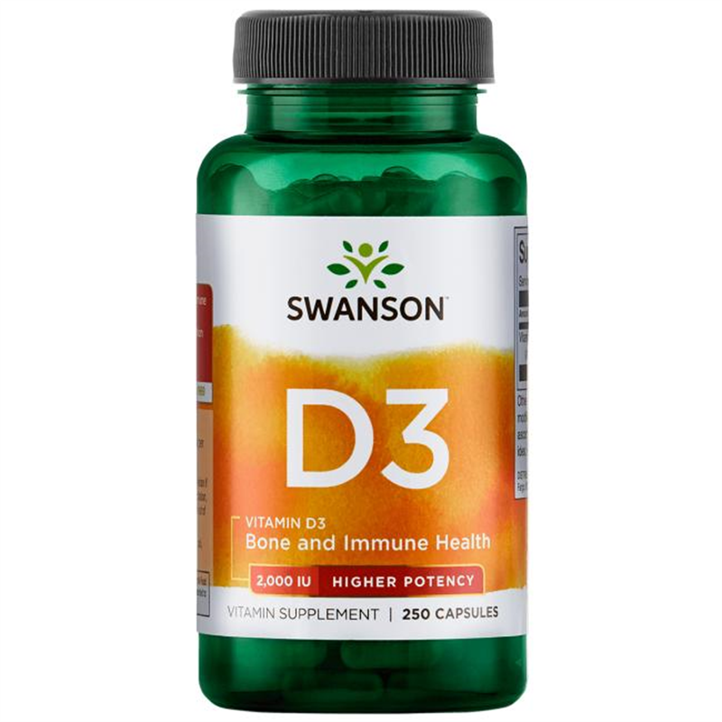 Swanson Higher Potency Vitamin D-3 2,000 IU