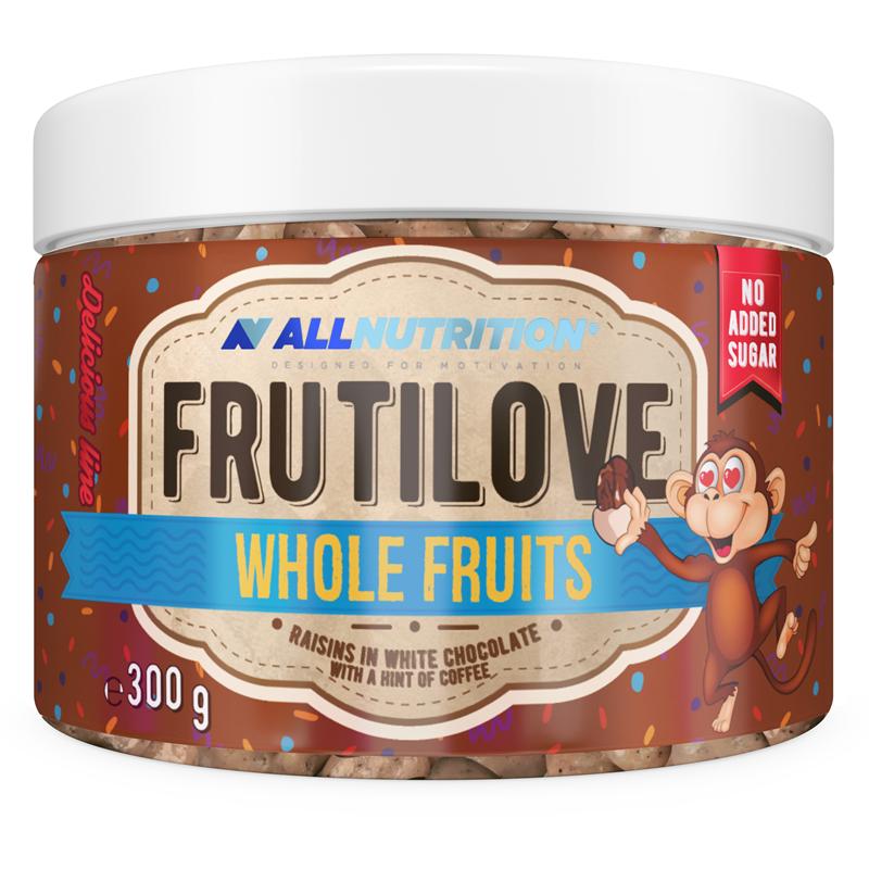 ALLNUTRITION FRUTILOVE Whole Fruits - Rodzynki W Białej Czekoladzie Z Nutą Kawy