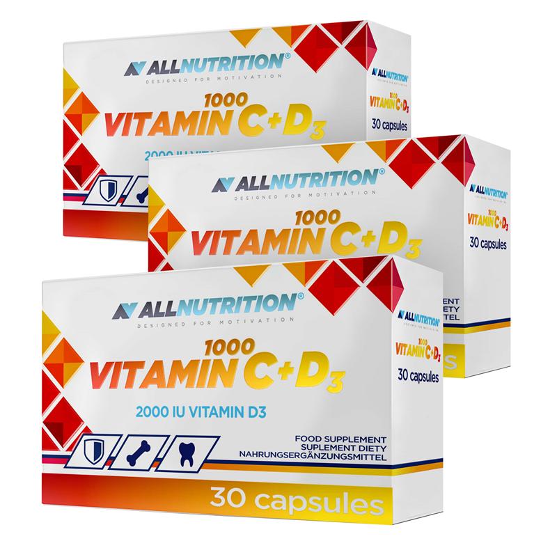 ALLNUTRITION 2+1 GRATIS Vitamin C 1000 + D3 30 kapsułek