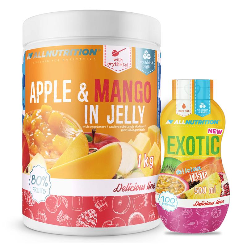 ALLNUTRITION Apple & Mango In Jelly 1000 + Sweet Sauce 500ml Gratis