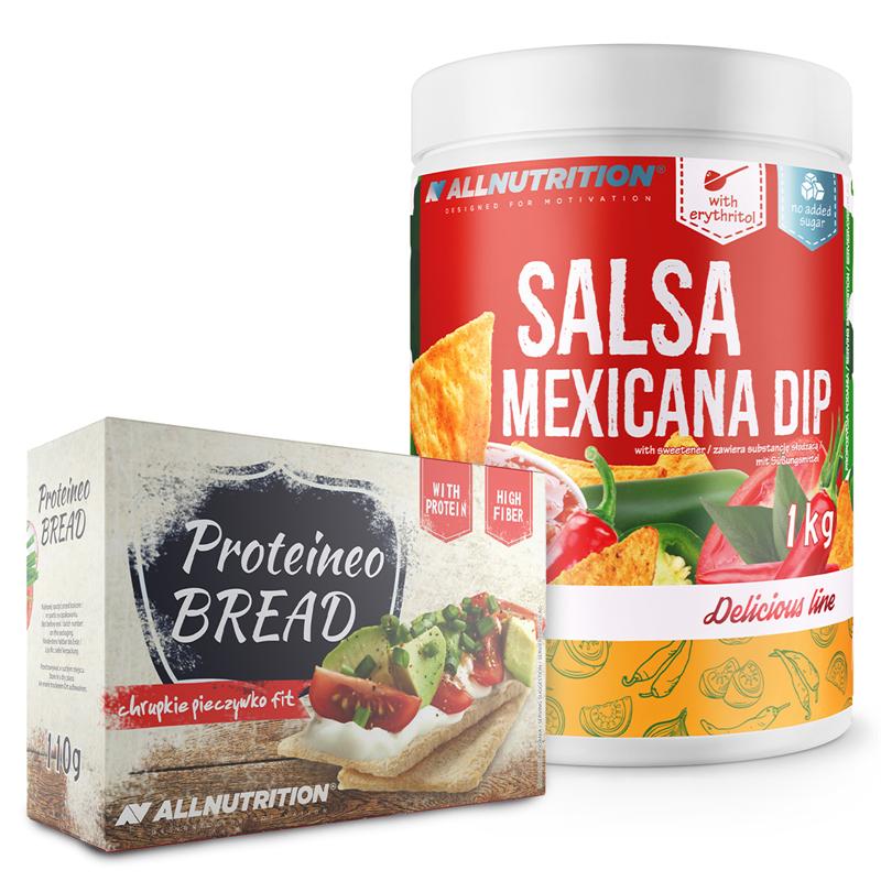 ALLNUTRITION Salsa Mexicana Dip 1000g + Proteineo Bread 110g Gratis