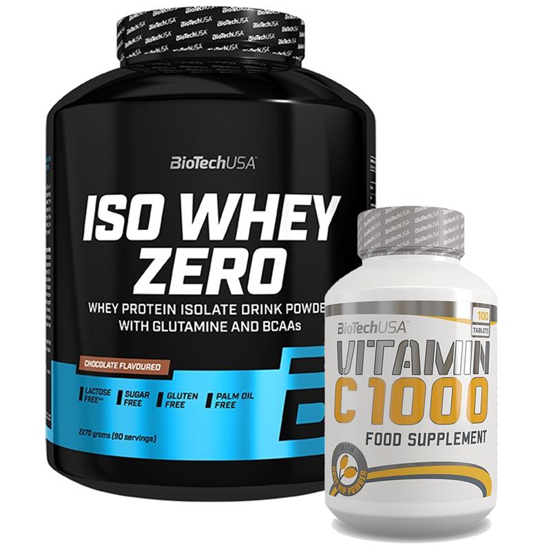 BioTechUSA Iso Whey ZERO 2270g + Vitamin C 1000 100tab