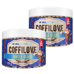 2x COFFILOVE Ziarna Kawy W Białej Czekoladzie Z Cynamonem 300g