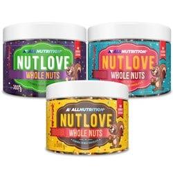 2x NUTLOVE WHOLENUTS MIGDAŁY 300g + NUTLOVE WHOLENUTS - ARACHIDY 300g