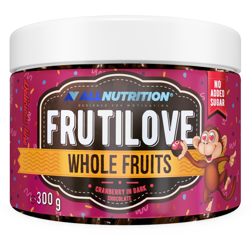 ALLNUTRITION FRUTILOVE Whole Fruits - Żurawina W Ciemnej Czekoladzie