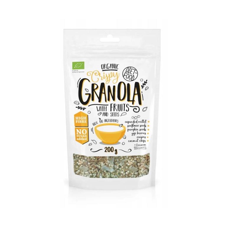 Diet Food Bio Granola z Owocami