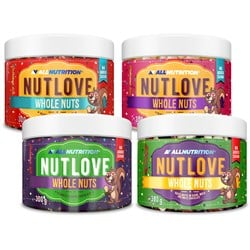 3x Nutlove Wholenuts - Arachidy + Nutlove Wholenuts - Orzechy Laskowe 300g