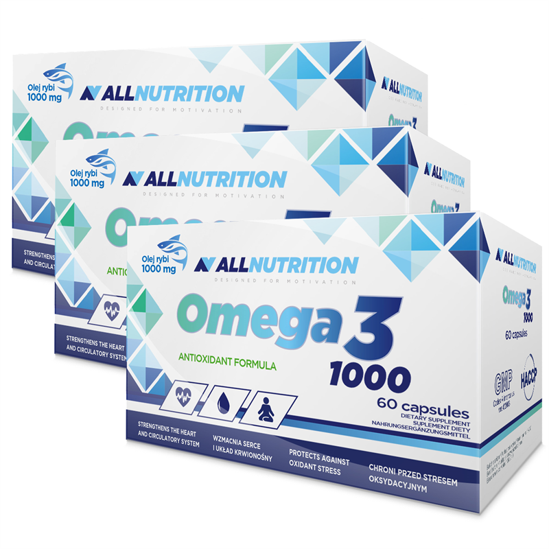 ALLNUTRITION 3x Omega 3 1000 60kap