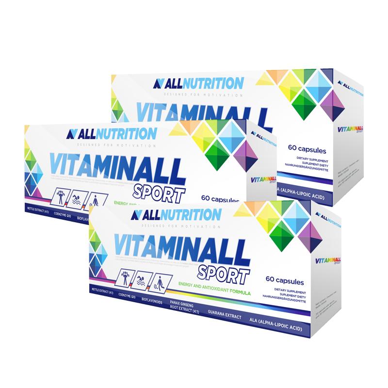 ALLNUTRITION 3x Vitaminall Sport 60 kapsułek