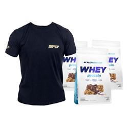 3x Whey Protein 908g + T-Shirt Athletic Gratis