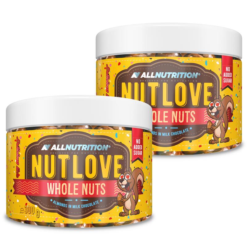ALLNUTRITION 2x Nutlove Wholenuts - Migdały W Mlecznej Czekoladzie 300g