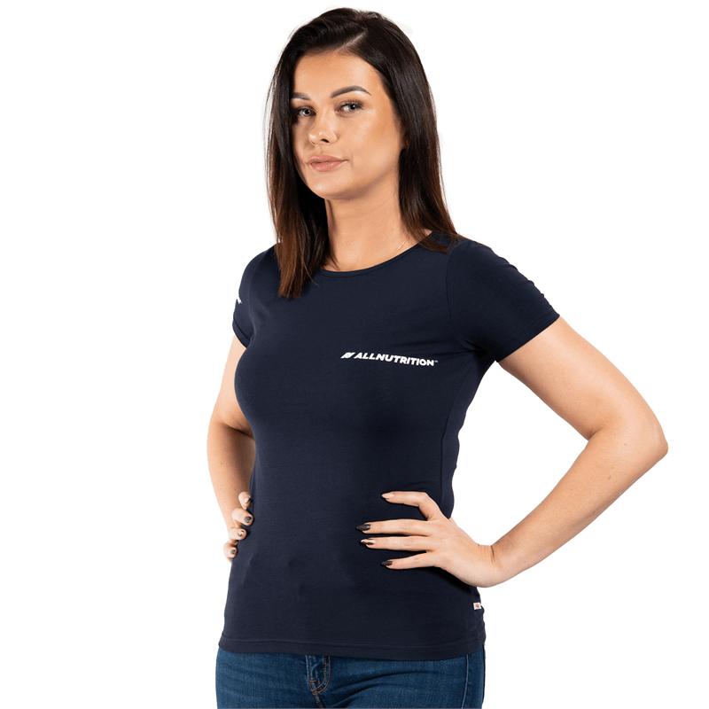 ALLNUTRITION T-Shirt Damski Slim FIT Granatowy
