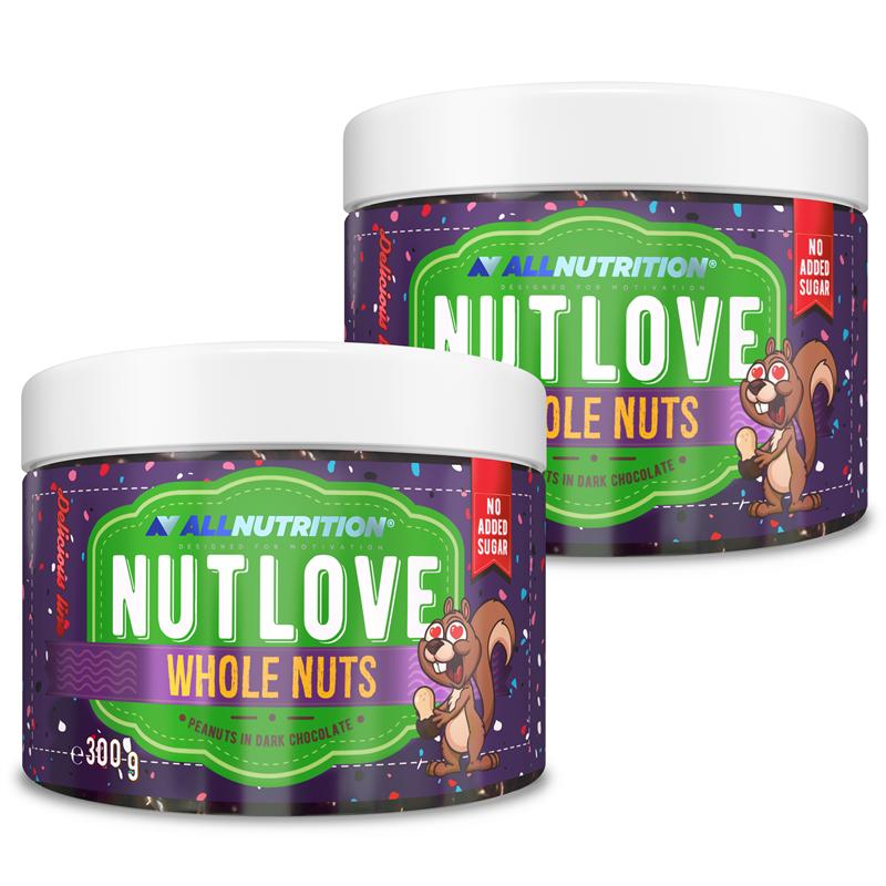 ALLNUTRITION 2x Nutlove Wholenuts - Arachidy W Ciemnej Czekoladzie 300g