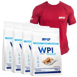 4x WPI Isowhey Instant + T-Shirt Athletic Bordowy GRATIS