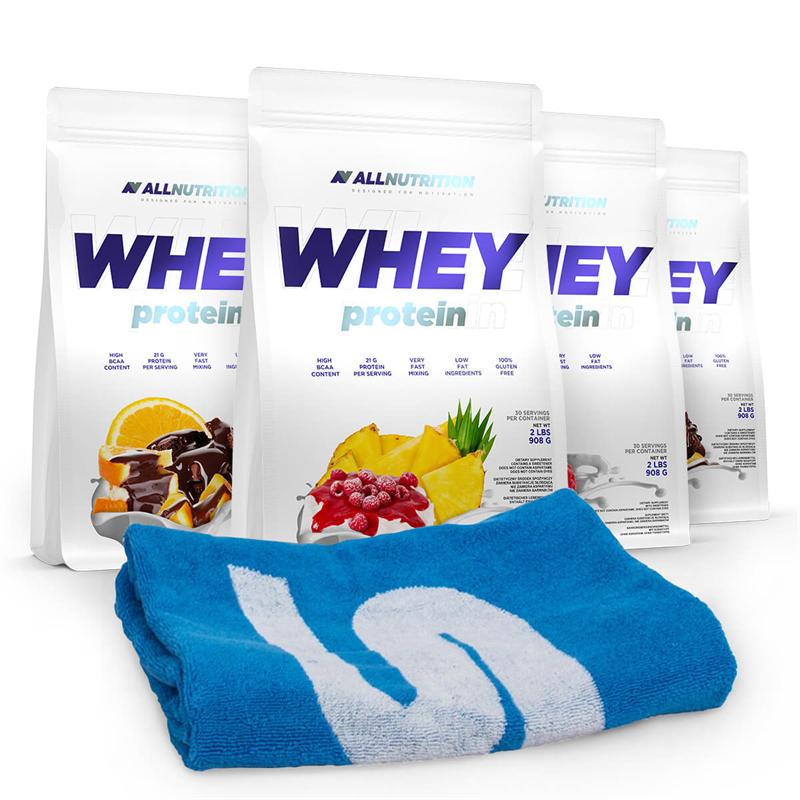ALLNUTRITION 4x Whey Protein + Ręcznik 50x100cm