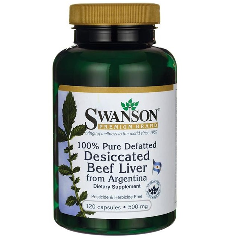 Swanson 100% Pure Defatted Desiccated Beef Liver
