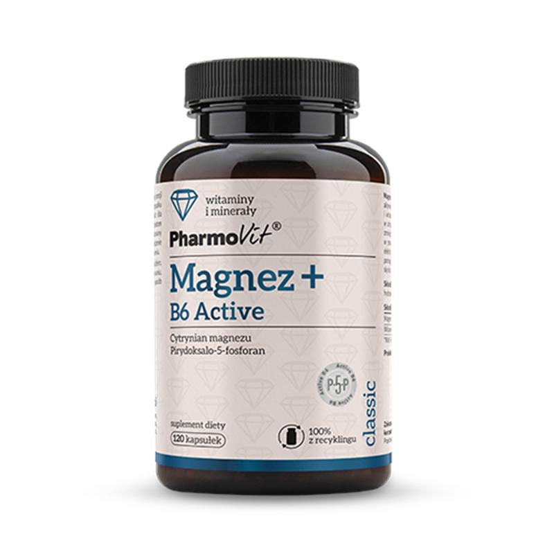 Pharmovit Magnez + B6 Active