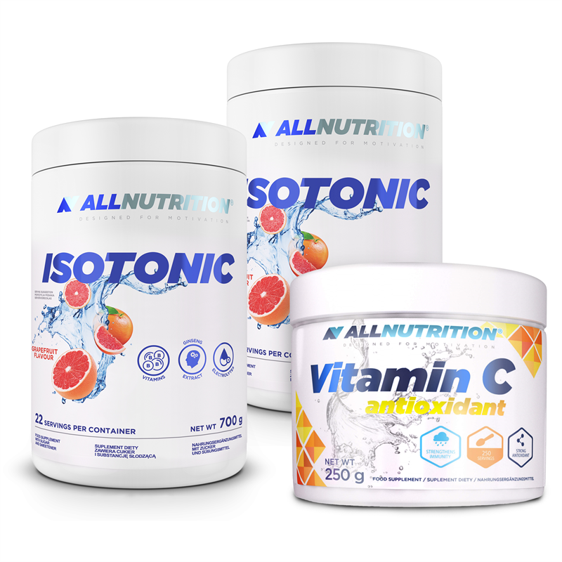 ALLNUTRITION 2x Isotonic 700g + Vitamin C 250g GRATIS