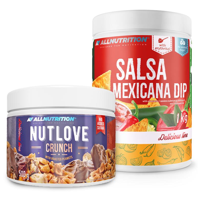 ALLNUTRITION Nutlove Crunch 500g + Salsa Mexicana Dip 1000g
