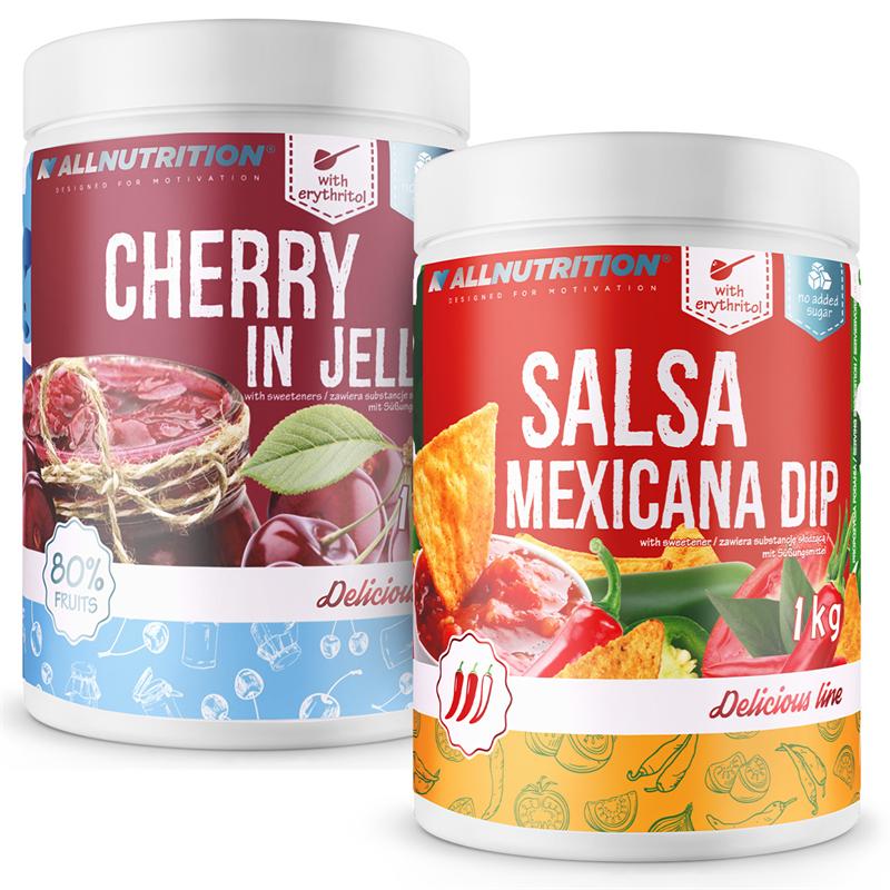 ALLNUTRITION Cherry In Jelly 1000g + Salsa Mexicana Dip 1000g