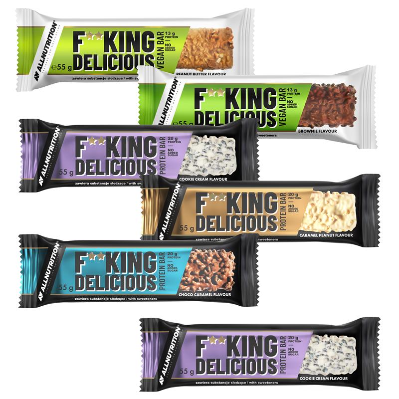 ALLNUTRITION 5 +1 GRATIS F--king Delicious Protein Bar 55g