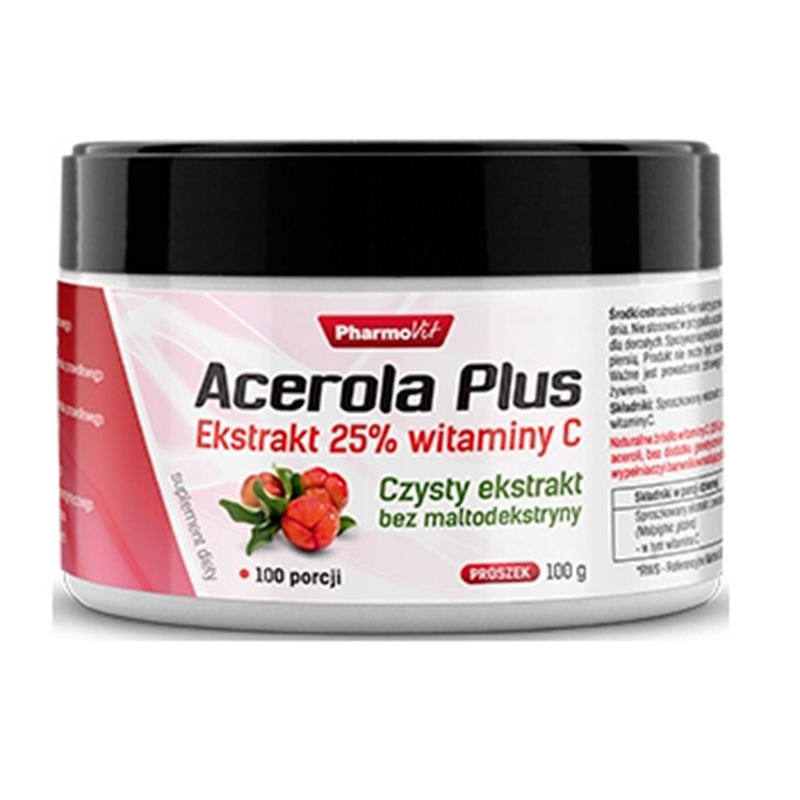 Pharmovit Acerola Plus Ekstrakt 25% Wit C