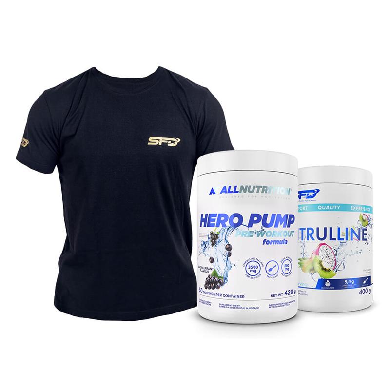ALLNUTRITION Hero Pump 420g + Citrulline 400g + T-Shirt Athletic Gratis