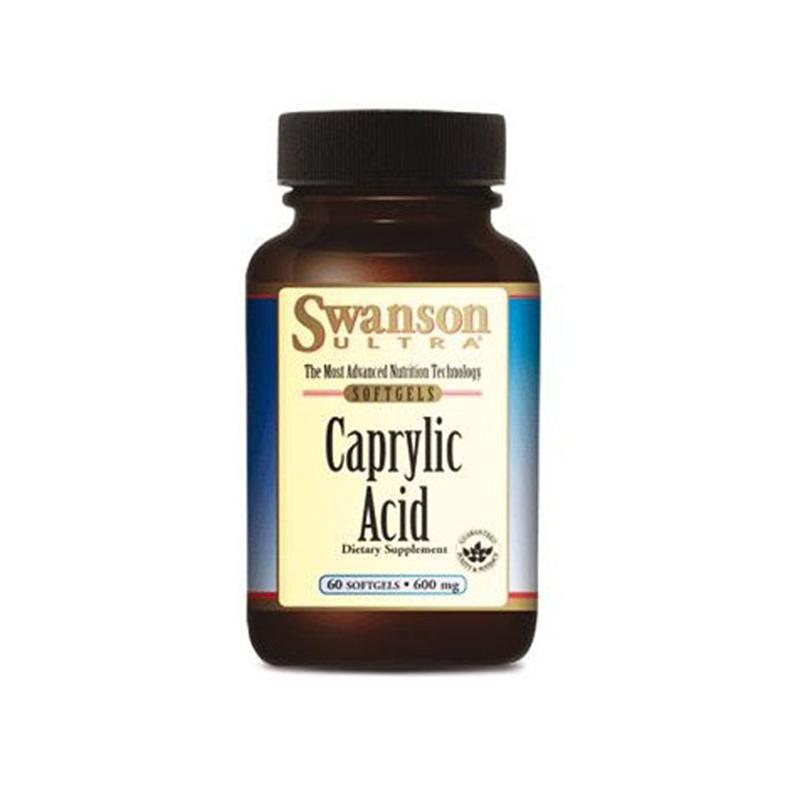 Swanson Kwas kaprylowy (Caprylic Acid 600mg)