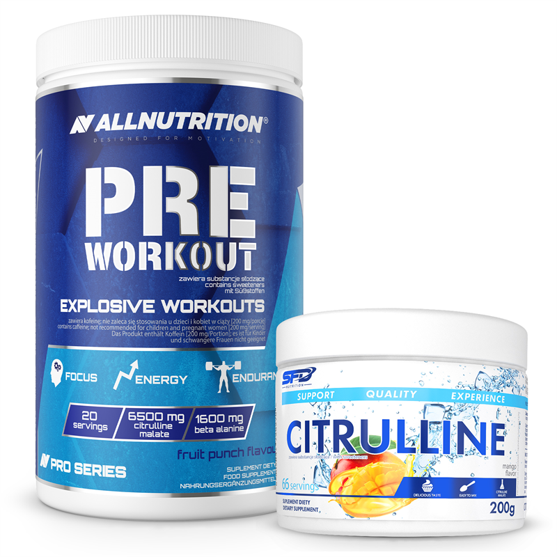 ALLNUTRITION Pre Workout Pro Series 600g + Citrulline 200g GRATIS