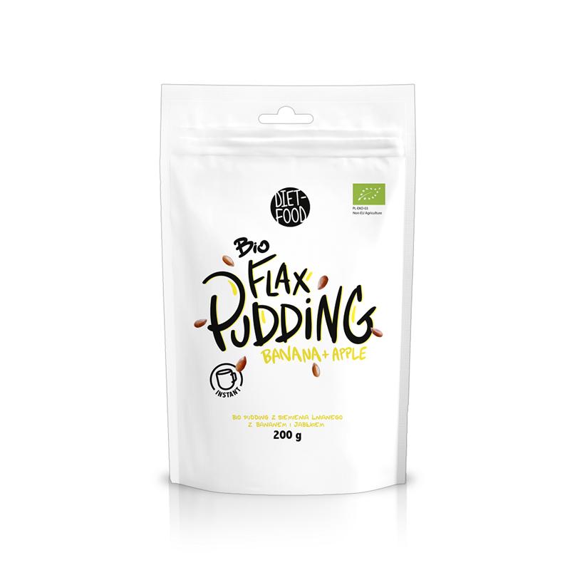 Diet Food Bio Pudding Jabłko i Banan Instant Flax