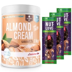 Almond Cream 1000g + 3x Nutlove Wholenuts - Arachidy W Ciemnej Czekoladzie 30g Gratis