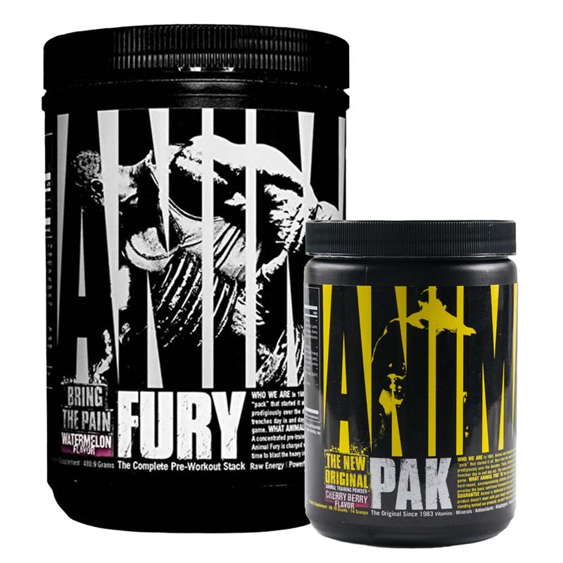 Universal Nutrition Animal Fury 480g + Animal Pak 117g GRATIS