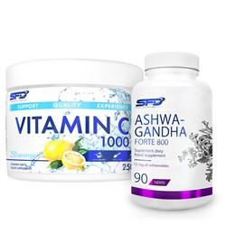 Ashwagandha Forte 800 90tab + Vitamin C 250g Gratis