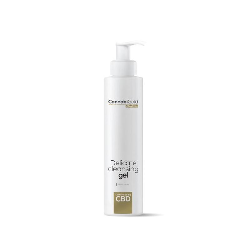 CannabiGold Delicate Cleansing Gel - Wszystkie rodzaje skóry