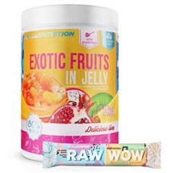 Exotic Fruits In Jelly 1000g + Raw WoW Bar 2x35g GRATIS