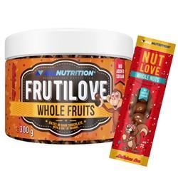 FRUTILOVE Whole Fruits - Daktyle W Ciemnej Czekoladzie Z Nutą Pomarańczy 300G+NUTLOVE WHOLENUTS 30G