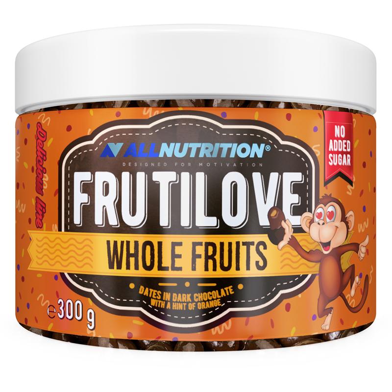 ALLNUTRITION FRUTILOVE Whole Fruits - Daktyle W Ciemnej Czekoladzie Z Nutą Pomarańczy