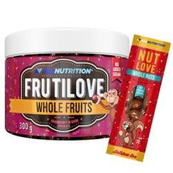 FRUTILOVE Whole Fruits - Żurawina W Ciemnej Czekoladzie 300g+NUTLOVE WHOLENUTS 30G GRATIS