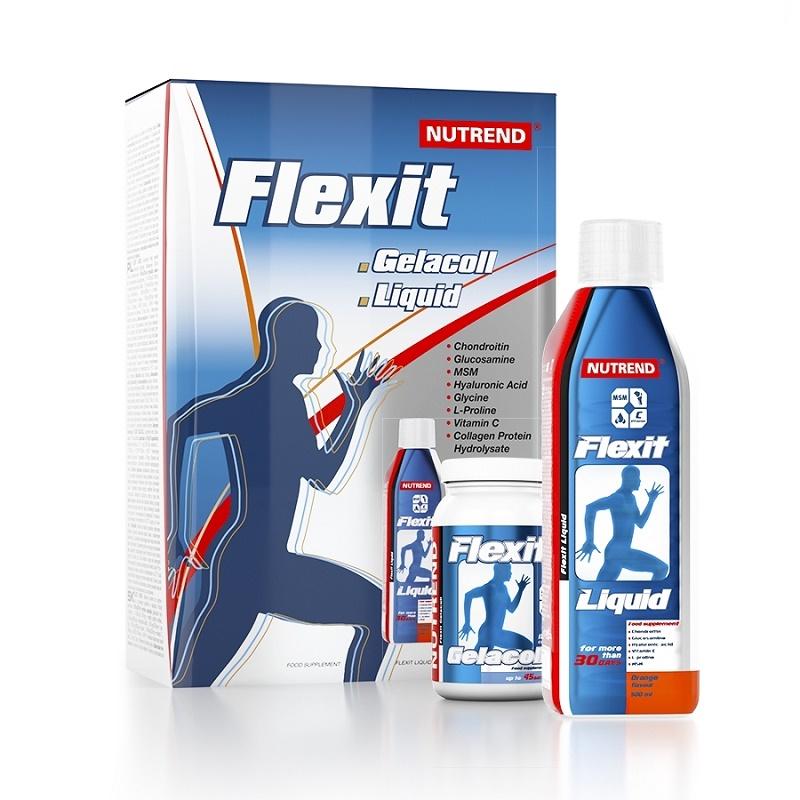 Nutrend Flexit liquid Orange 500ml + Flexit gellacol 180kap