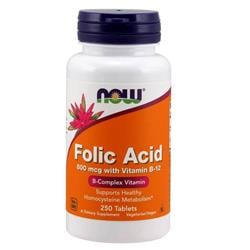 Folic Acid 800 mcg with Vitamin B-12 Tablets