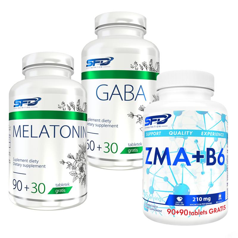 SFD NUTRITION Gaba 90tab + Melatonin 120tab + ZMA+B6 180tab