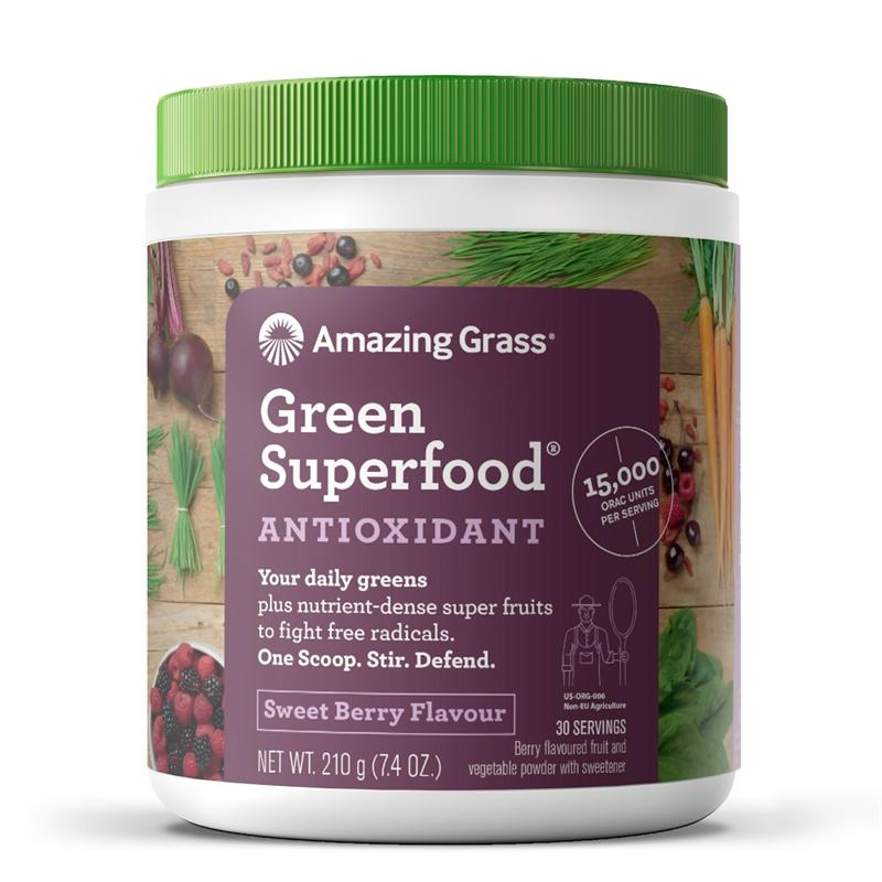 Amazing Grass Green Superfood Antioxidant Sweet Berry