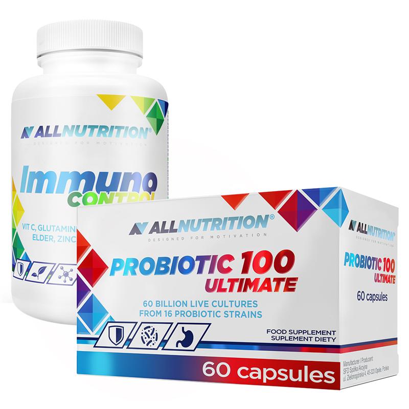 ALLNUTRITION Immuno Control 90kap + Probiotic 100 Ultimate 60kap