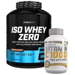 Iso Whey ZERO 2270g + Vitamin C 1000 100tab