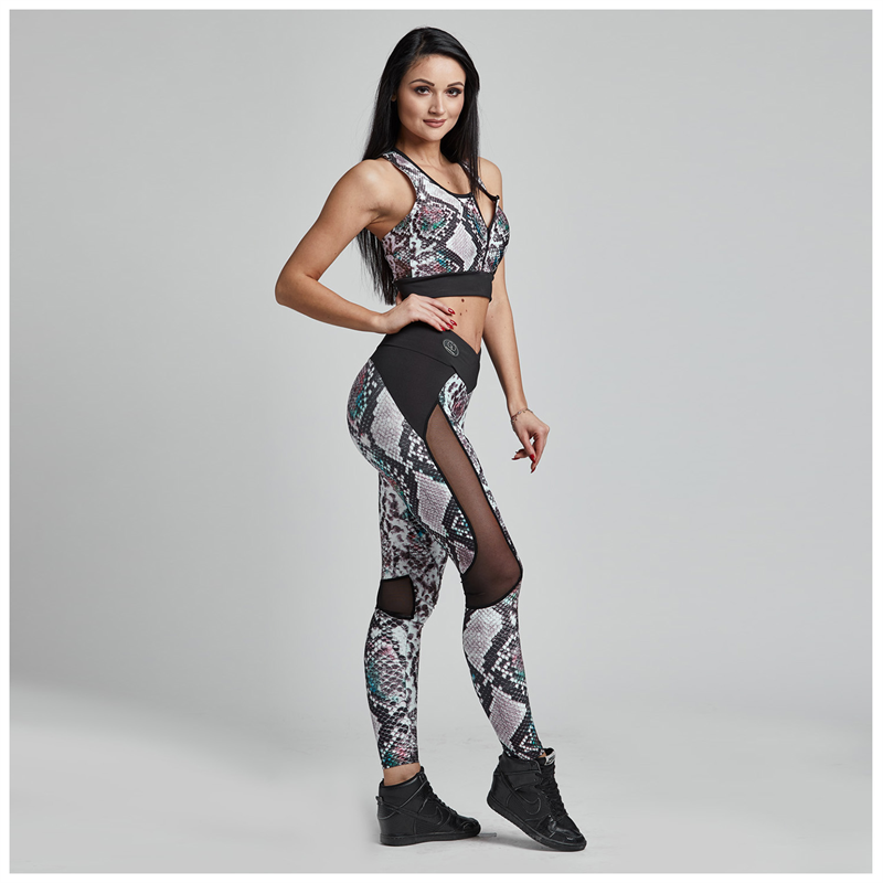 Gym Provocateur LEGGINSY SEXY SNAKE COLORFUL