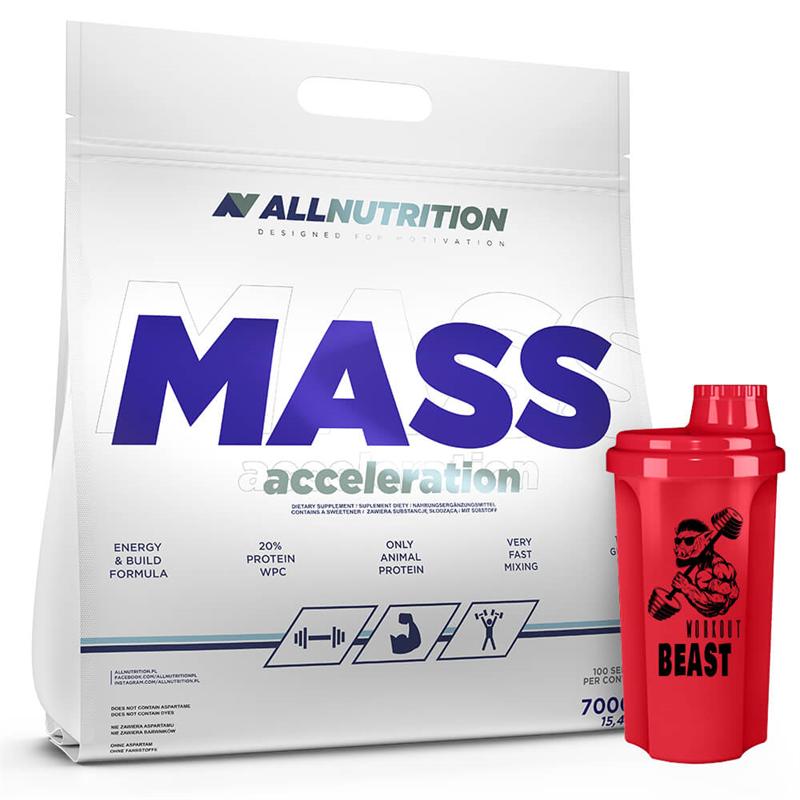 ALLNUTRITION MASS ACCELERATION 7000g + Shaker GRATIS